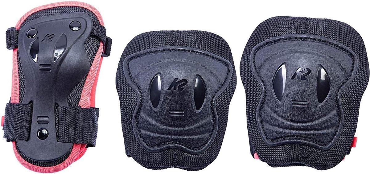 K2 Valbescherming setKinderen - donkerblauw/roze
