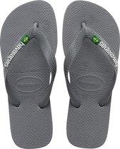 Havaianas Brasil Logo Heren Slippers - Steel Grey/Steel Grey - Maat 43/44
