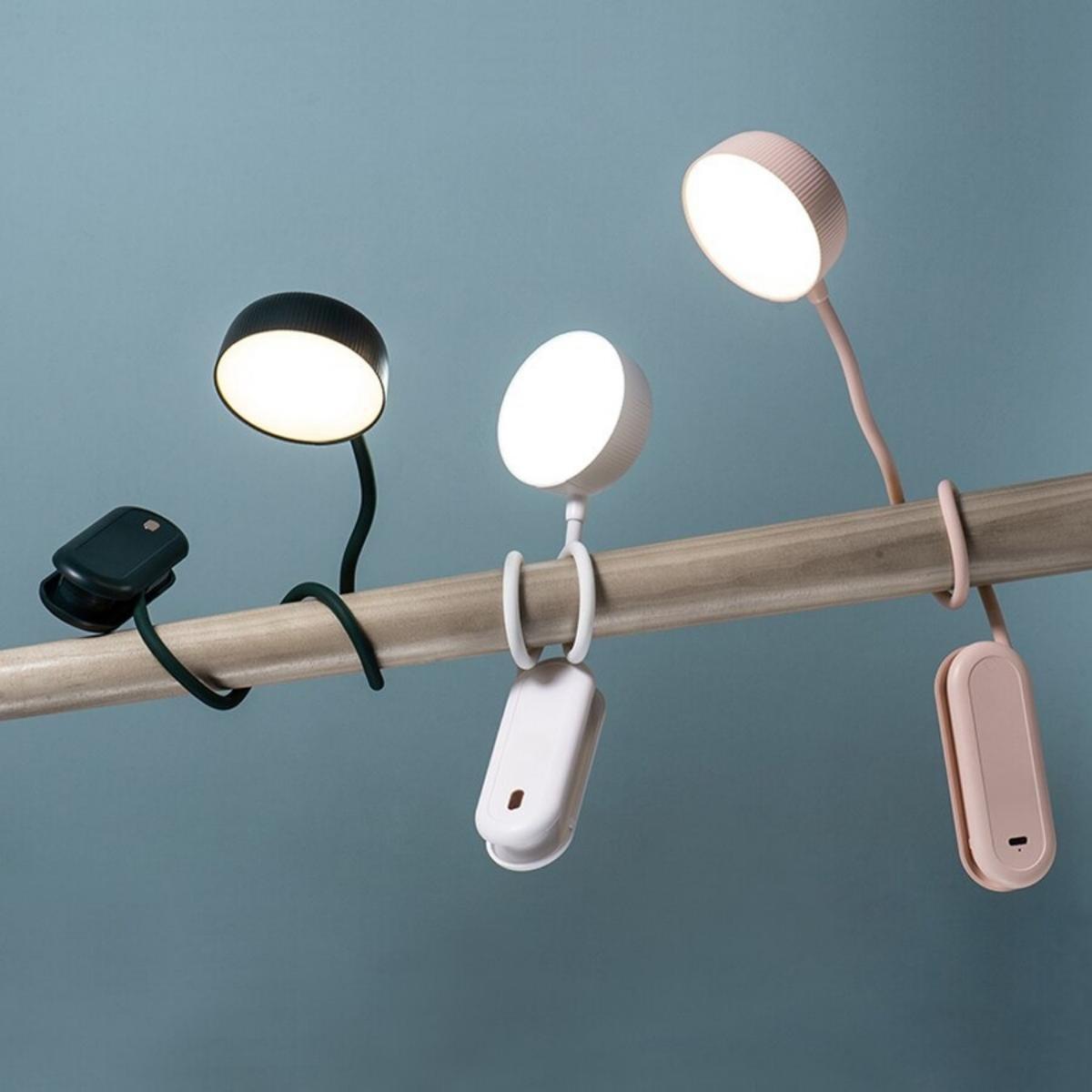 Leeslamp voor boek - Bedlamp - Leeslampje - Oplaadbare lamp - Dimbaar - Verstelbaar - Flexibel - Bedlampjes Staand en Hangend voor Slaapkamer, Bed of Nachtkastje - Neklamp - Wit