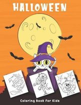 Halloween Coloring Book For Kids: Cute Halloween Coloring Book For Kids