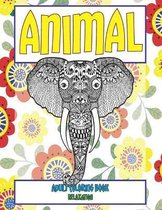 Adult Coloring Book Relaxation - Animal