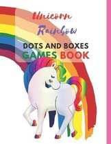 Unicorn Rainbow Dots and Boxes Games Book