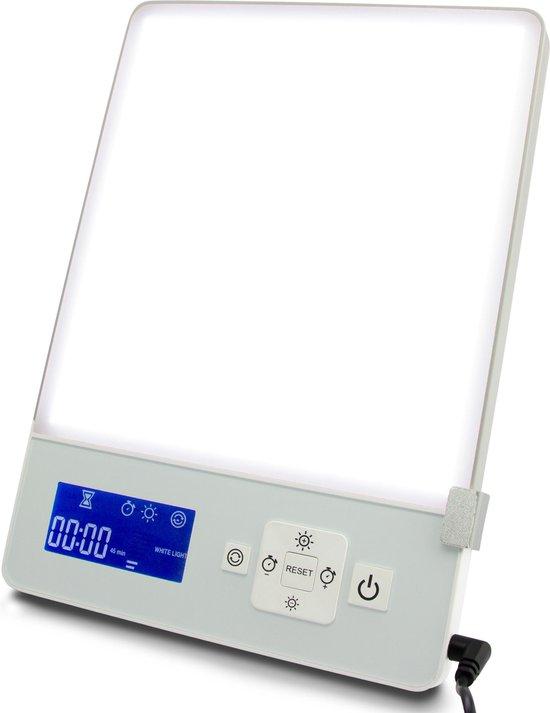 LIROMA® Daglichtlamp - 10.000 lux - Timer - Blauw en Wit licht – Lichttherapielamp