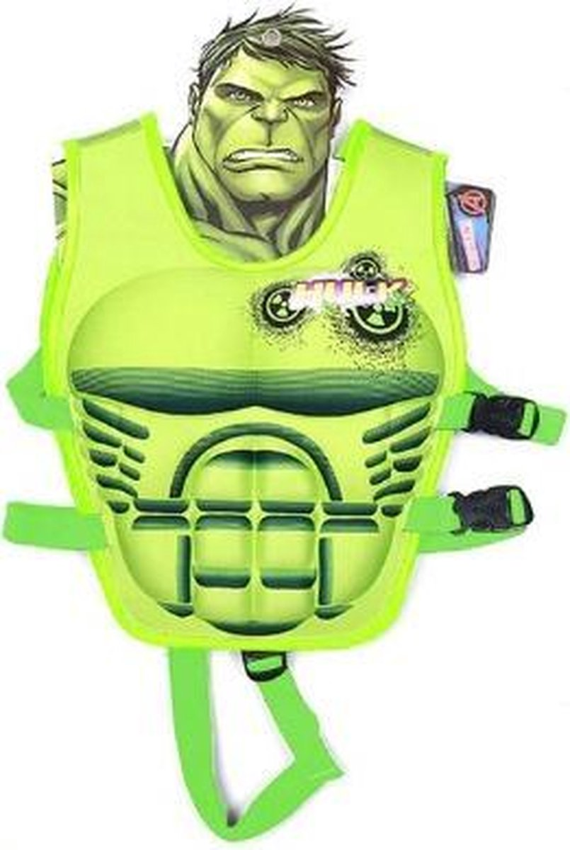 Hulk Zwemvest - Veiligheidsvest - Float Jacket - Badmode - Marvel Zwemvest - Zwem Accesoires - Kinder Veiligheid - Leren Zwemmen