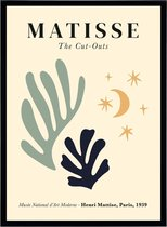 Poster Henri Matisse - Kunst Print - Cut Outs Bladeren en Sterren - Abstract Art