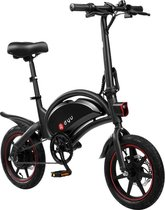 Gutos DYU D3F opvouwbare elektrische fiets, slimme mountainbike voor volwassenen, 240W aluminiumlegering fiets verwijderbare 36V/10Ah lithium-ion batterij met 3 rijmodi