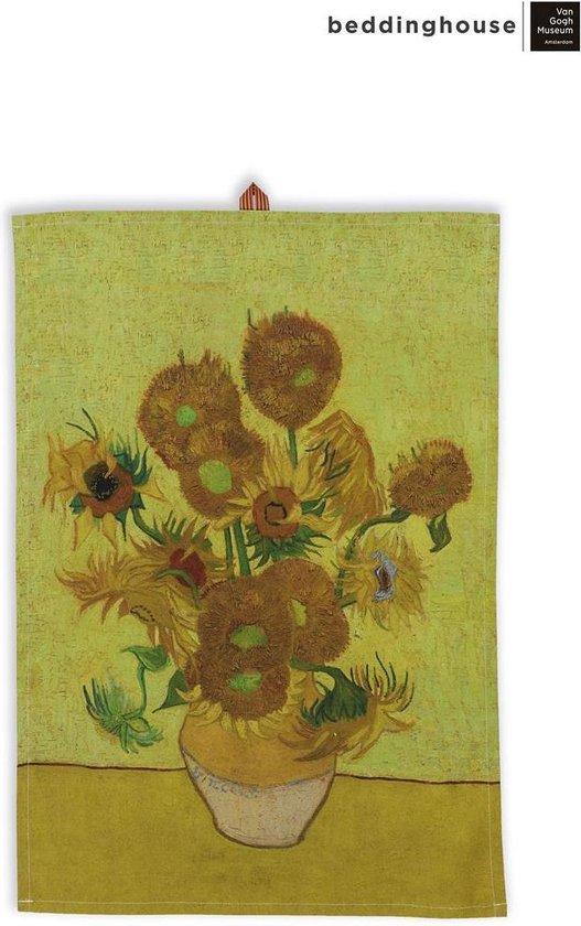 Beddinghouse x Van Gogh Theedoek Sunflower Geel