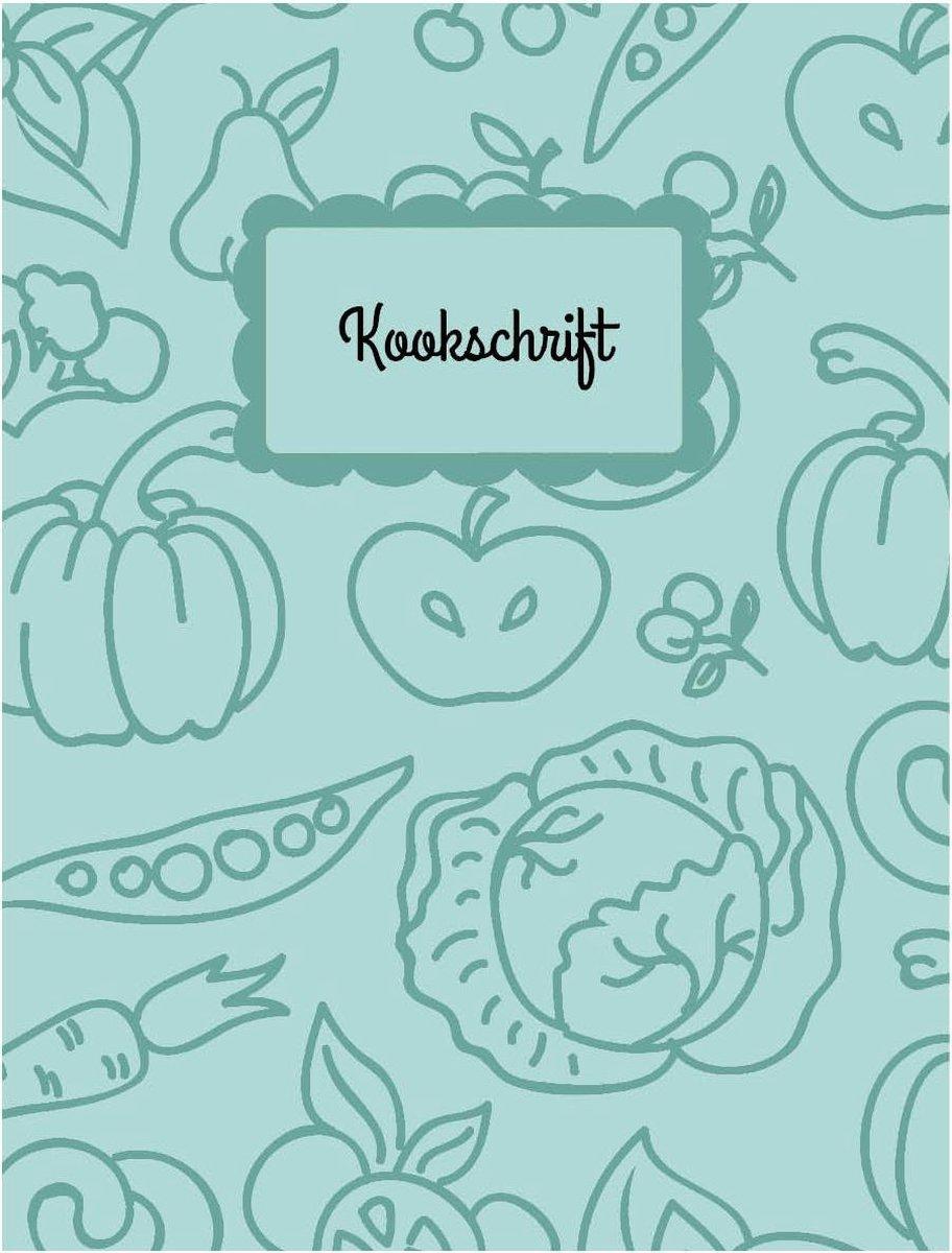 Kookschrift - Notitieboek - Happybook - Recepten - Schrijven - Eigen kookboek creëren - Cadeau - Kookliefhebber - Groen