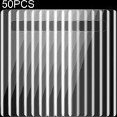 50 PCS 0.1mm HD 3D gebogen PET terug Full Screen Protector voor Galaxy Note 8  geen Retail Package(Transparent)