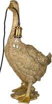 Gans dierenlamp goud 62 CM