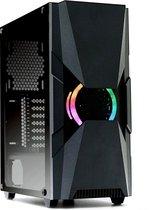 LC-Power Gaming 704B  RGB Midi-Tower Tempered Glass Gaming case behuizing met ARGB Case fan