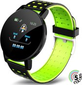 Ynona® Sports Products Smartwatch Oem 119 Plus - Horloge - Dames & Heren - Sporthorloge - 5 Kleuren - Groen