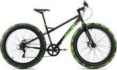 """Ks Cycling Fiets Mountainbike MTB Fat Bike 26"""" SNW2458 zwart-groen - 43 cm"""
