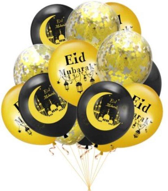 EID MUBARAK Ballonen - Set van 10