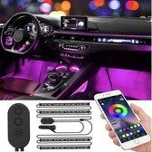 Unilight - Auto Interieur LED Verlichting Met App - LED strip - Auto Verlichting - Bluetooth LED strips - RGB Binnenverlichting LED Strips - Auto Sfeerverlichting - Auto Accessories - LED Strips