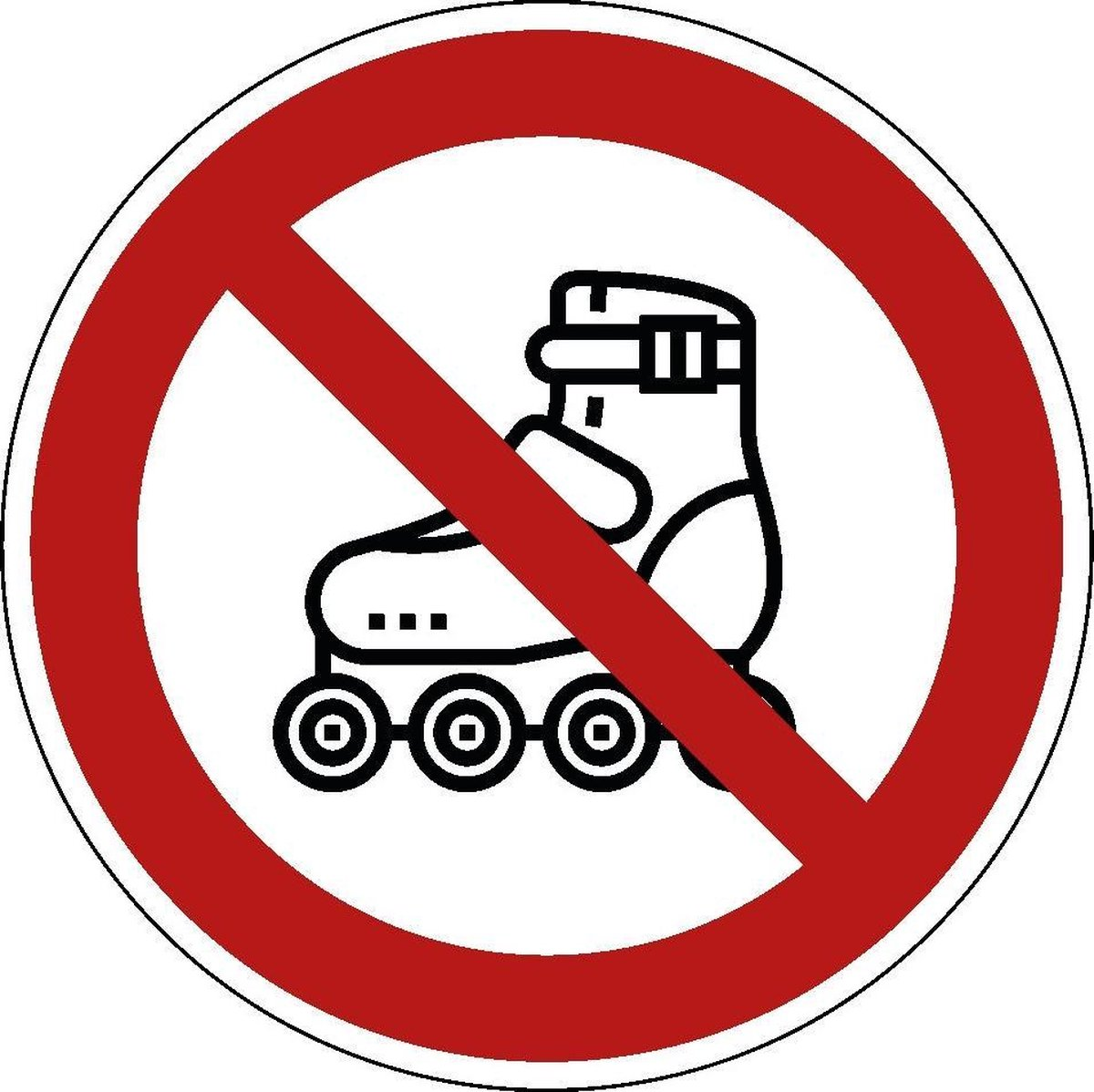 Verboden te skaten sticker 400 mm