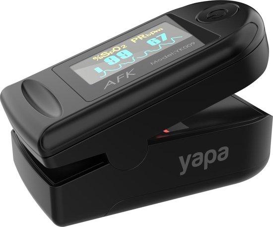 Yapa Electronics® Saturatiemeter met Hartslagmeter en Zuurstofmeter - Zwart