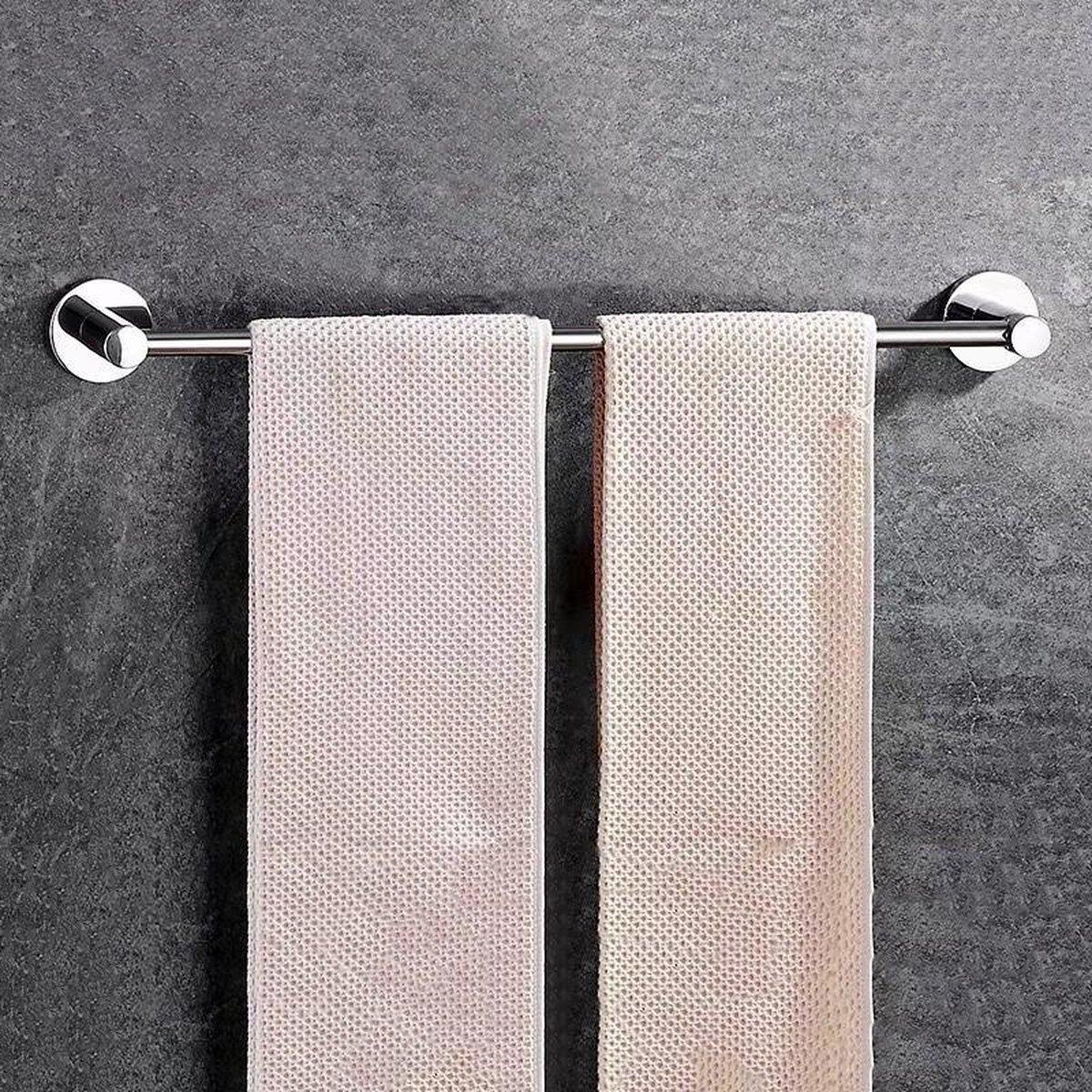 Handdoekrek Zwart Badkamer Handdoekhouder Handdoekstang Handdoek Rek - Badkamer Accessoires - 52cm - GENSTO