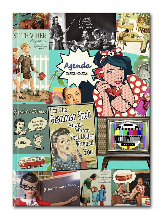 Lerarenagenda / Docentenagenda 2021-2022 - Vintage Fifties - Hard cover - Multi