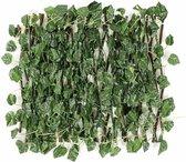 TUINSCHERM VAN WILGENHOUT (UITREKBAAR TOT 2 METER) - Kunsthaag - Kunst Hangplant - Hedera - Klimop Kunstplanten voor Binnen en Buiten - Hedera Helix - Namaak Planten - Kunst Klimop - Sinterklaas - Kerst