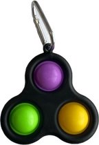 Simple Dimple Triple -  fidget toy zwart - Fidget Toys