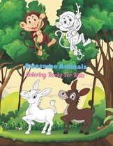 Awesome Animals - Coloring Books For Kids: This Adorable Coloring Book Is Filled With A Wide Variety Of Animals To Color