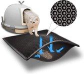 Tenify® Kattenbakmat - 40 x 50 cm - Waterdicht - Dubbele laag - Honingraatstructuur - Uitloopmat - Schoonloopmat Kattenbak - Kattenbak Accessoires - Katten Grit Opvanger