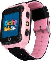 Kèshy  Smartwatch voor kinderen met GPS tracker - Incl. Camera en spelletje voor kids - Roze