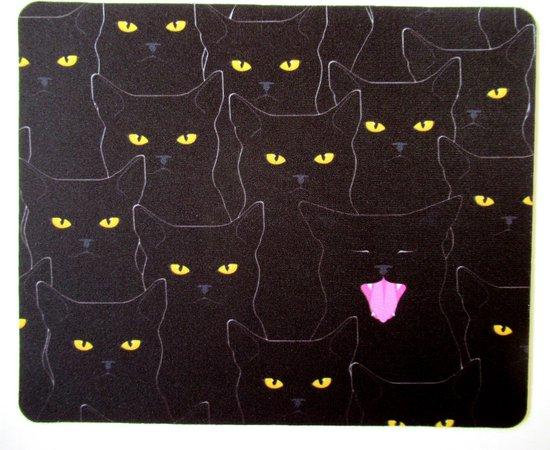 Kattenhebbedingen - Muismat - Kat - poes - Voor de kattenliefhebber - Gapende kat
