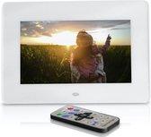 Digitale fotolijst – Digitaal fotokader - 7 Inch – Wit