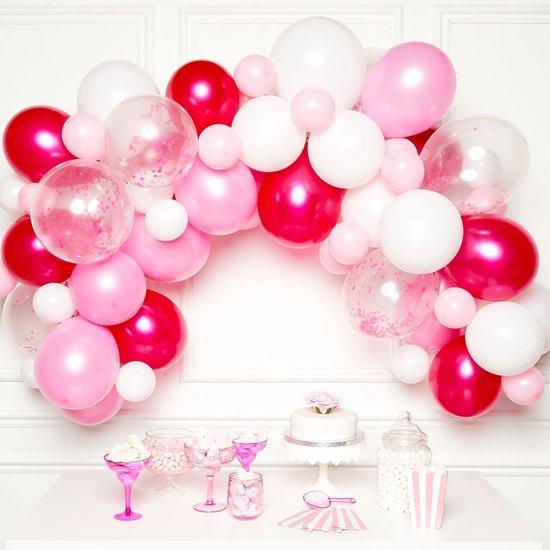 Amscan Ballonslinger Latex 1 Meter Roze 70-delig