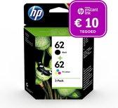 HP 62 - Inktcartridge kleur & zwart + Instant Ink tegoed