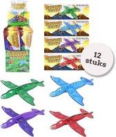 Foam vliegende Dino's| 12 STUKS| Uitdeelcadeautjes | Foam Gliders | Zweefvliegtuig