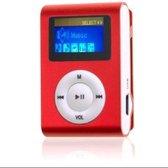 MP3 Speler - MP3 Speler inclusief Oordopjes - 16GB Geheugen - MP3 Speler Rood
