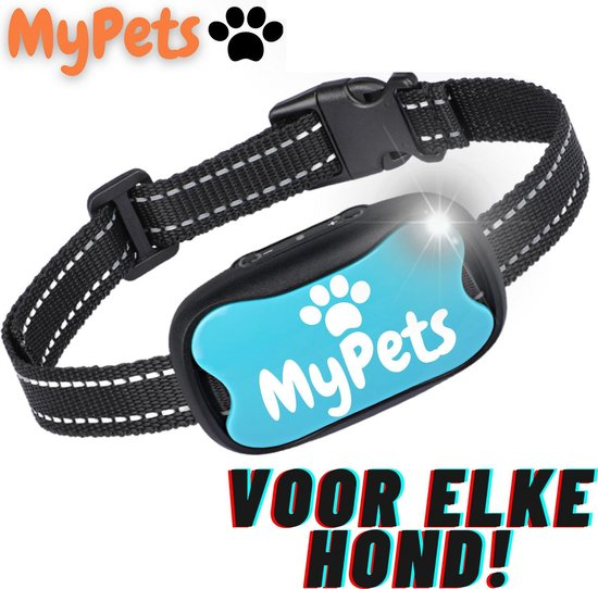 MyPets™ Anti-blafband - Anti Blaf Apparaat - Voor Kleine Honden en Grote Honden - Diervriendelijk - Opvoedingshalsband - Trainingshalsband - 2021/2022 Versie - Inclusief Batterijen