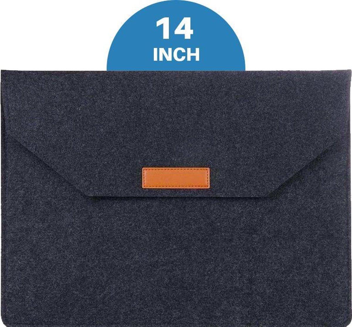Macbook en Laptop Soft Sleeve Case Zwart - Geschikt voor Macbook Pro & Air 13 inch (13,3'') - Laptop