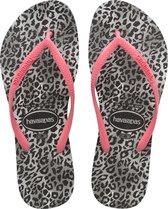 Havaianas Slim Leopard Dames Slippers - Black - Maat 39/40