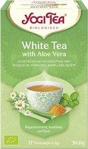 Yogi Tea White Tea met Aloe Vera Voordeelverpakking - 6 pakjes van 17 theezakjes
