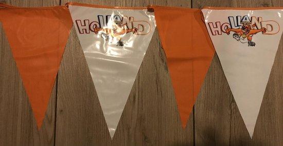 Oranje vlaggenlijn hup Holland