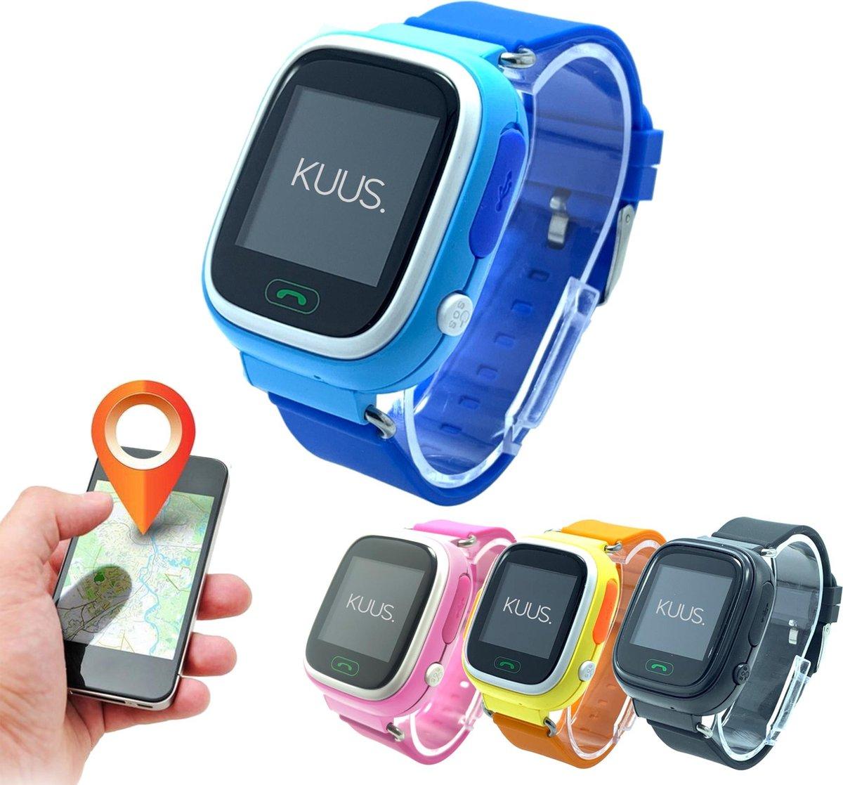 KUUS. GPS horloge kind, smartwatch voor kinderen met GPS tracker - Blauw