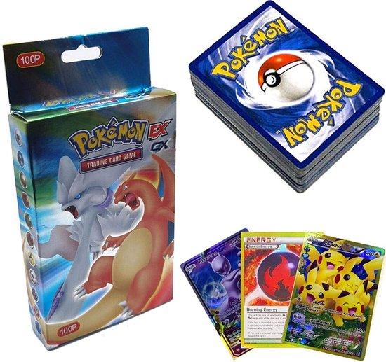 Afbeelding van het spel SunAurora - 100 Stuks Pokemon-Kaarten, Pokemon-Ruilkaarten Set - 78 EX Pokemon Kaarten,21 GX Pokemon Kaarten en 1 Pokemon Energy-kaart