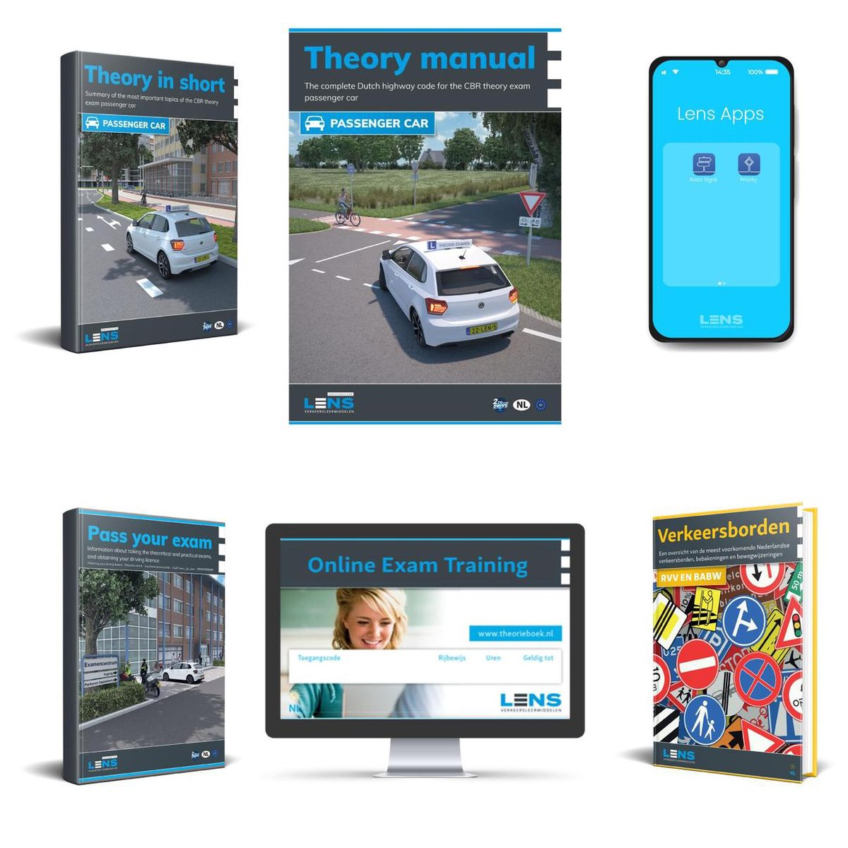 Driving License Theory Book 2021 Car English Complete Package 2021 - Theorieboek Engels  Auto - Lice