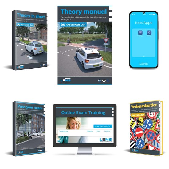 Boek cover Theory Book Car English Complete Package 2021 - Theorieboek Engels  Auto - License B Theory Learning Manual - Lens Meda van Lens Verkeersleermiddelen (Voordeeleditie)