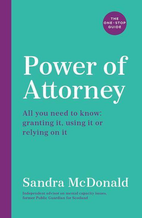 Boek cover Power of Attorney: The One-Stop Guide van Sandra Mcdonald (Onbekend)