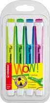 STABILO Swing Cool - Markeerstift - Perfect Voor Onderweg - Etui Met 4 Kleuren