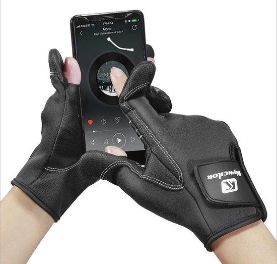 Levabe Professionele Vingerloze Antislip Vis Handschoen   Zwart   Outdoor   Vis Sport   Hengel   maat M