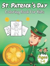 St Patrick's Day Coloring Book For Kids Ages 1-4