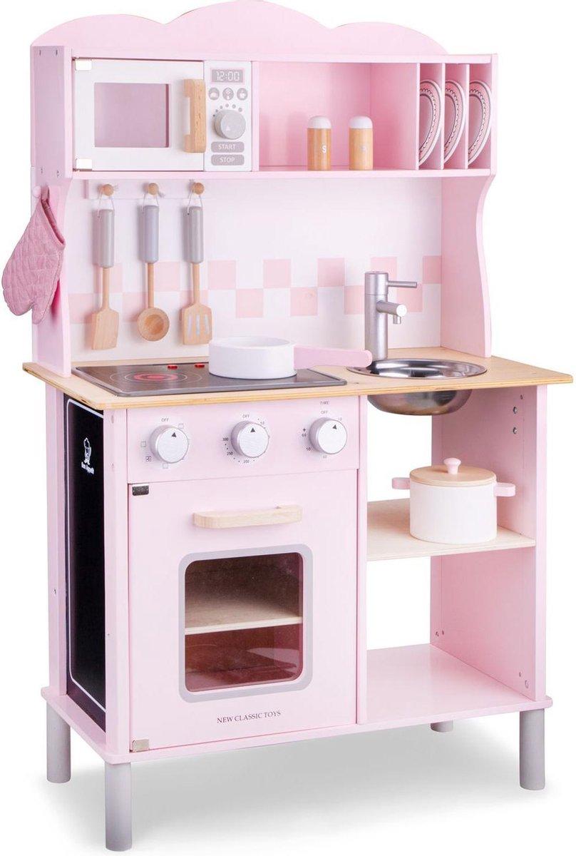 New Classic Toys Speelkeuken Modern Roze met geluid