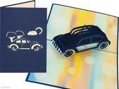 Popcards popupkaarten Volkswagen Kever Oldtimer Auto Verjaardag Felicitatie Vaderdag Beetle Herbie 53 pop-up kaart 3D wenskaart