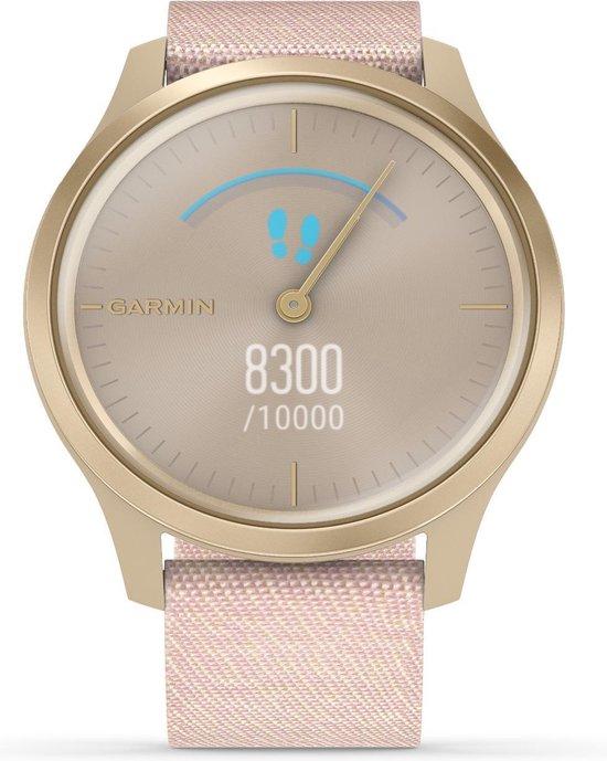 Garmin Vivomove Style - Smartwatch dames - 42 mm - Goud/licht roze